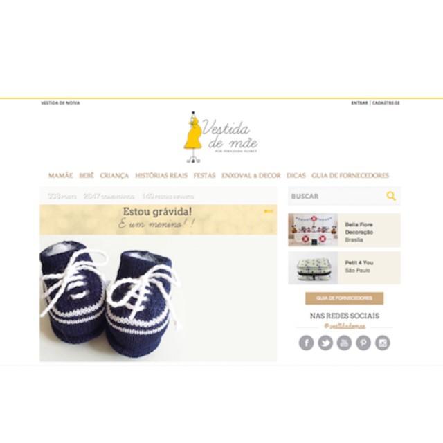 Hoje é dia oficial da estreia do nosso novo layout no #vestidademae! Aguardo a visita de vocês lá, bem-vindas!! ? www.vestidademae.com.br ?