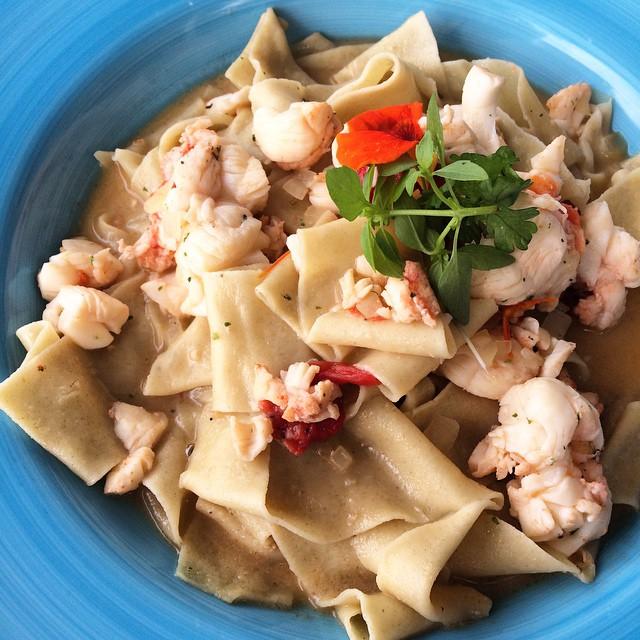Desejo de grávida do dia: pasta com lagosta! #huummmm #búzios #desejododia @casas_brancas_buzios