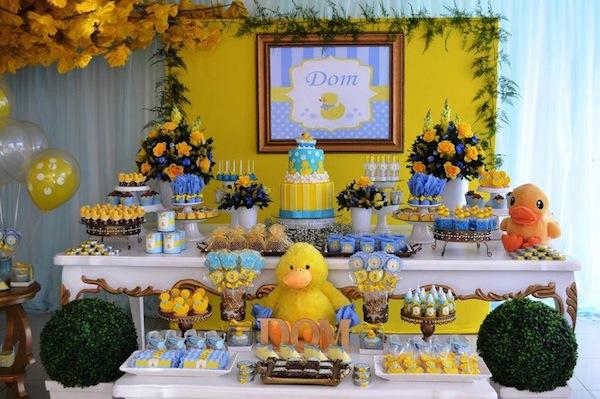 decoracao festa infantil azul e amarelo:Patinho Amarelo