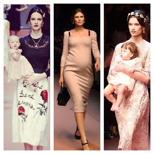 Completamente apaixonada pelo desfile @dolcegabbana na semana de moda de Milão - na passarela: grávidas, mamães, bebês, crianças e roupas que são total meu estilo! Quero tudo! #dgmamma
